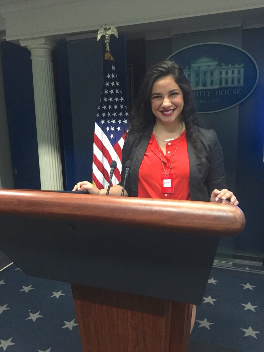 Oropeza in the White House Briefing Room