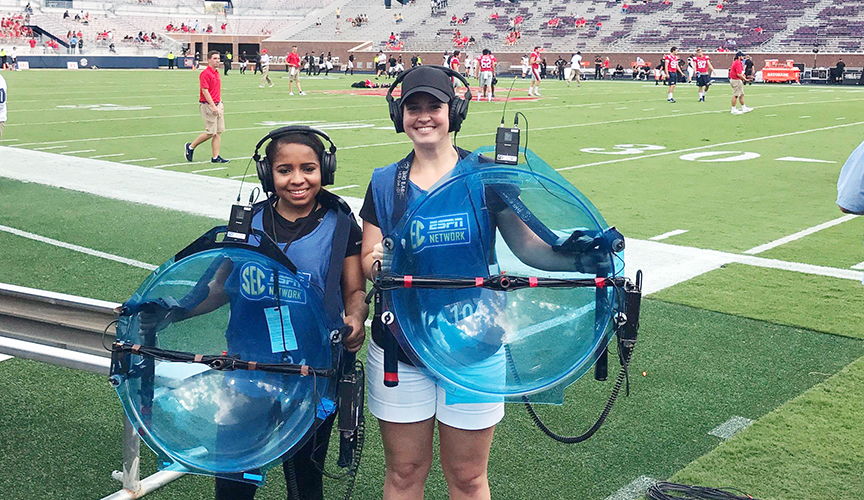 Meek School broadcast students work sidelines for ESPN/SECN