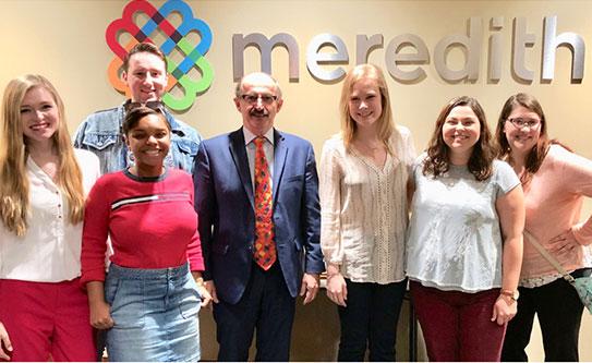 Meek School magazine students visit Meredith Corp. in Birmingham