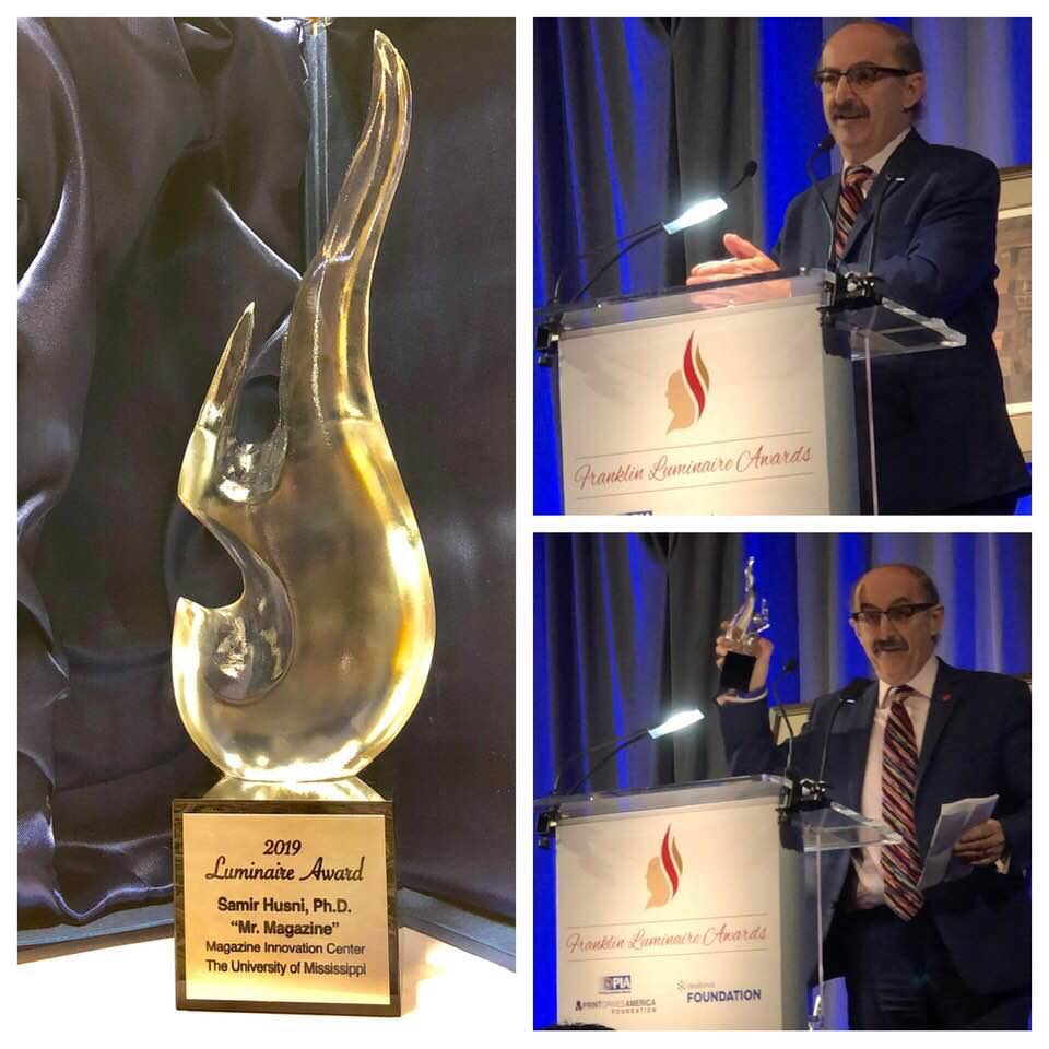 Meek School professor receives The Luminaire Award in New York City